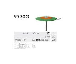 H+M Elastische Polierer Fig. 9742 G - 9770 G, grün/orange